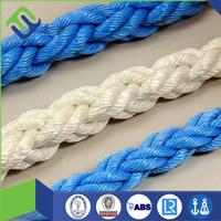 8 strand Polyproylene Polyester mixed mooring rope/nylon rope