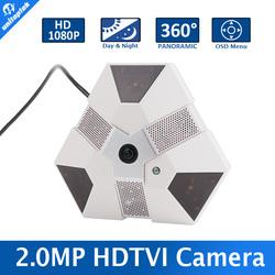 "Fisheye TVI Camera 1/3"" CMOS Sensor With 360 Degree Panoramic Camera 5MP 1.56mm Lens 2.0MP TVI Camera"