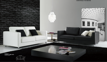 China manufacturer high quality best price modern black and white two seater leather sofa , living room two seater leather sofa