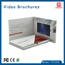 2015 new lcd video card wedding invitation paper craft