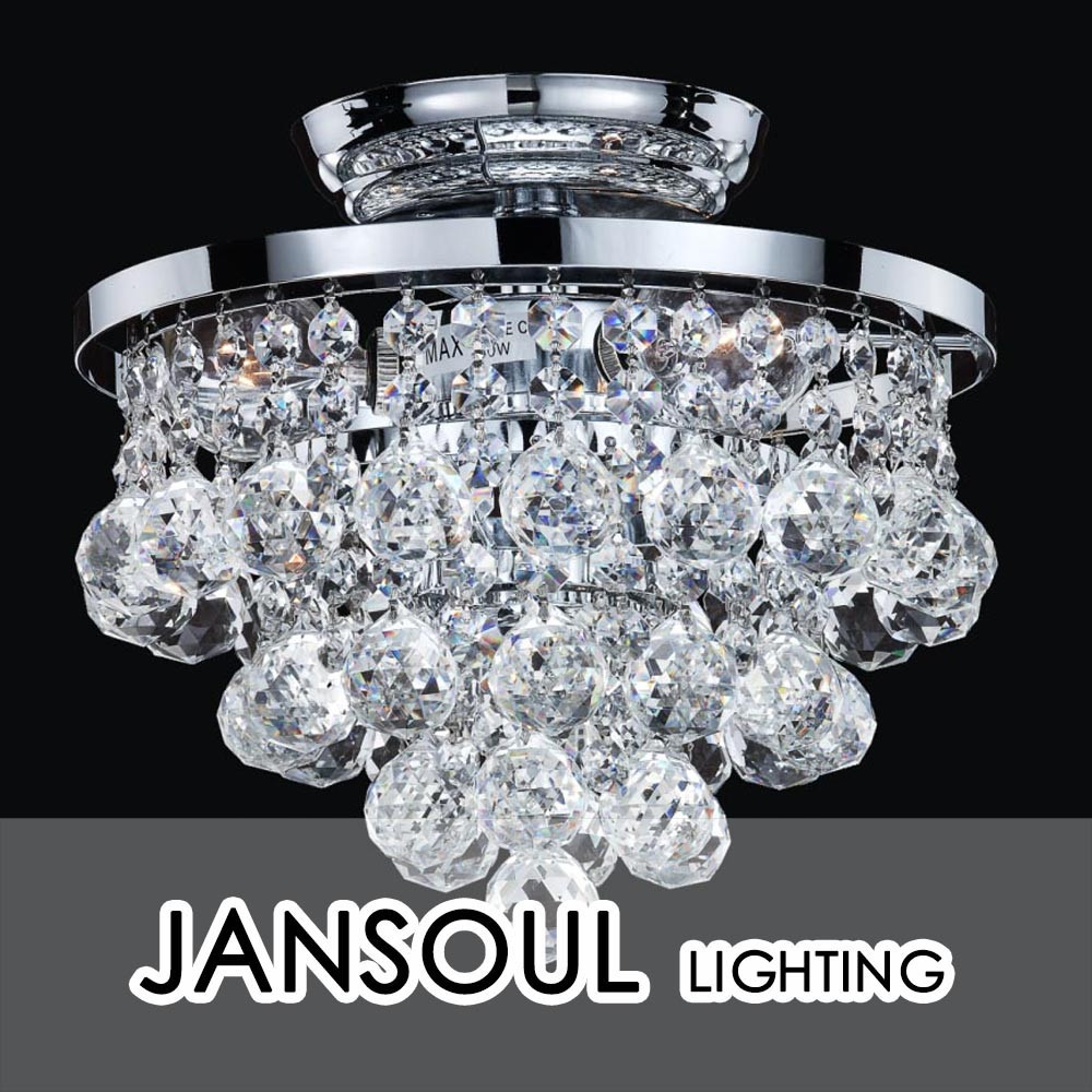 wholesale lighting factory crystal chandelier ball flush