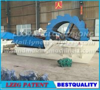 High efficiency ahd low cost washing and dewatering equipment for sand