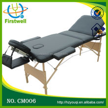 Newest design solid wooden massage table for spa club