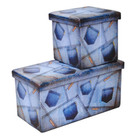Sitting Room Storage Stool Ottoman Strong Bench
