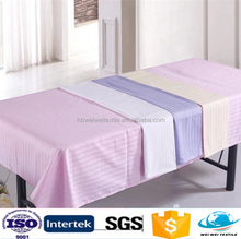 bright color Shijiazhuang satin fabric hotel used bed sheets 100% cotton