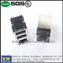 high quality rj45 connector usb RJ45 single port factory price