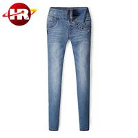 New design three button fancy ladies denim jeans pant in good shape