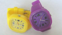 Silicon rubber strap led cand wrist watches popular for all over the world
