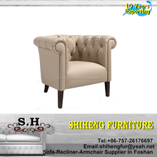 Classic Design Furniture Living Room Cafe Leather Chair XYBC-31