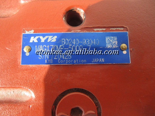 KYB MAG170VP-5000-7 for KATO HD1430-3 travel motor unit 619-77000001
