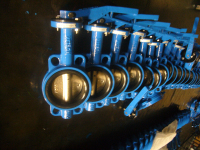 Long Neck DN65 Wafer Butterfly Valve with lever