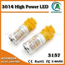 Latest design 12V~28V auto 3157 amber LED bulb light
