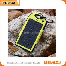ultra slim Portable power banks charger solar panel 5000mah Solar Power Bank with Manufacturer Price