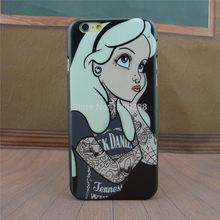 "4.7"" For Apple i Phone iPhone 6 Case Tattoo Ariel Little Mermaid series Protective Cover Case For iPhone6"