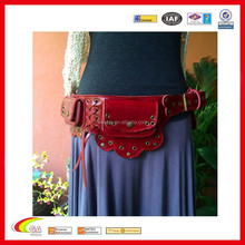 Leather Passport Belt Bag/Beautiful Money Waist Belt Bag Travel Pouch Hidden Passport ID Holder