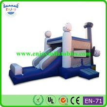 Mini bouncer inflatable castle jumping jumper moonwalk with slide for kids party