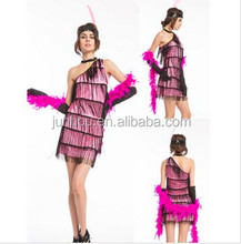 Junhou halloween costume purple Flapper Ladies 20s Fancy Dress Womens 1920s Great Gatsby Adults Costume