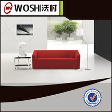 alla moda stile base in acciaio inox ufficio divano in tessuto