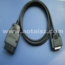 J1962 OBD2 adapter cable DB9 DB25 to USB test cable