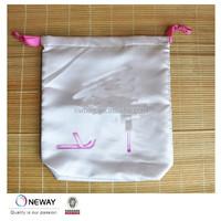 2015 China Price Quality Custom Drawstring Satin Shoe Bag/Customized Satin Gift Bag/Satin Bag With Logo Printing
