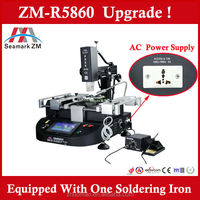 Hot air and IR Three Heaters Touch screen BGA rework station ZM-R5860 upgrade from t862 infrared bga rework station !