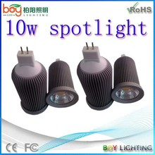 Boy brand quality IP44 AC220V/AC12V GU10/MR16/E27 COB 10w led spot light for motorcycle