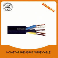 Electric cable three phase H07RN-F high flexible low voltage cable wire