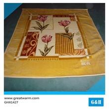High Quality Hot Sale Flower Pattern star print Fleece Blanket