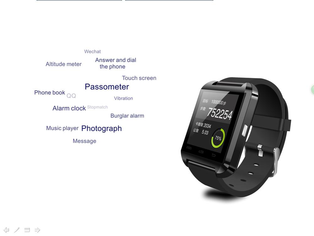 2015 New arriving Bluetooth Smart Watch WristWatch U8 U Watch for Android Smart Phone