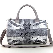 Flag printing travel bag fashion sports canvas duffle bags one day travel bag