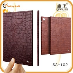 korean style tablet cover for ipad mini 3 genuine leather crocodile pattern tablet case