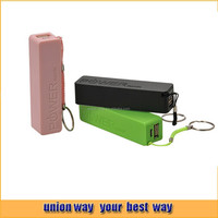 Color promotion gift perfume power bank 2600MAH for mobile smart phone