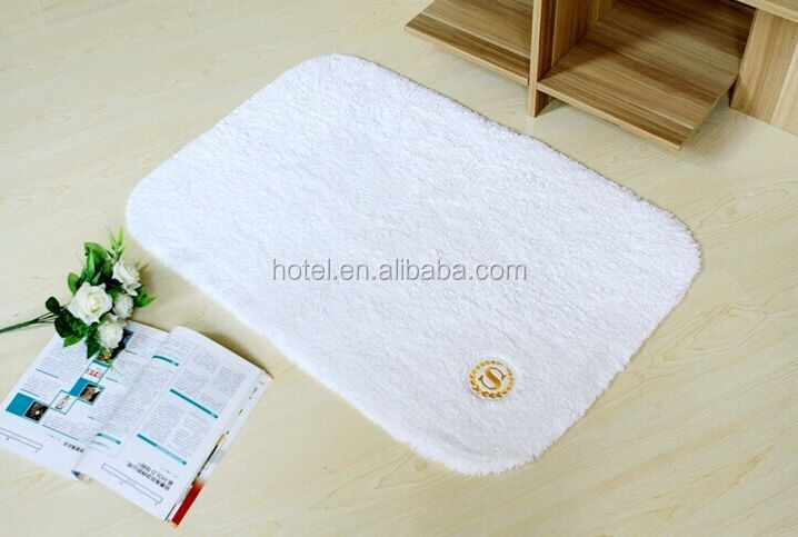Antislip Hotel Bath Rug with rubber bottom
