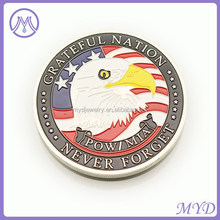 custom made silver coins with grateful nation words