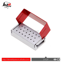 A dental diamond burs holder block aluminium autoclave disinfection box 20-hole small aluminum box waterproof aluminum box