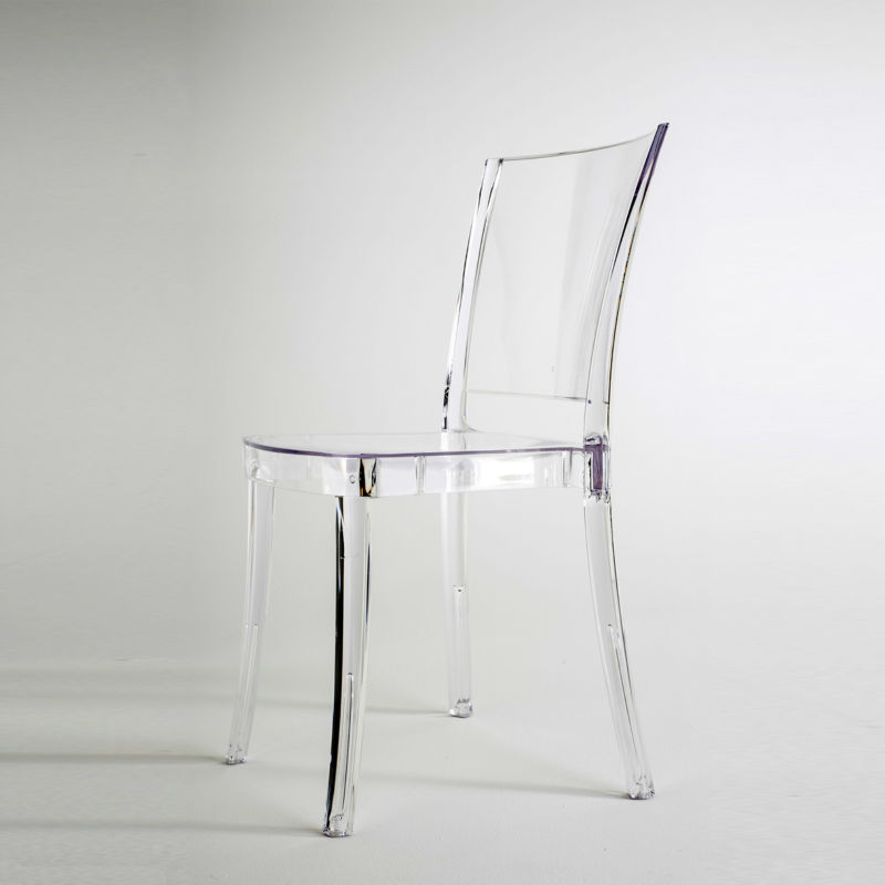 Chaise transparente en polycarbonate lucienne neutre - Chaise en polycarbonate ...