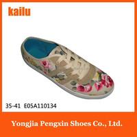 custom make high quality canvas shoes black girls school shoes