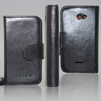 High quality leather flip case for sony xperia t2 ultra flip cover