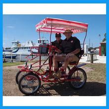 2 and 4 people riding 4 wheel caravan bike