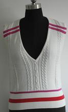 cable de punto señoras suéter chaleco