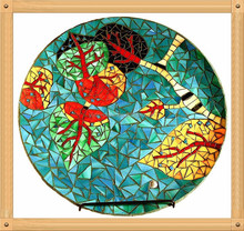 Yixin-15-30cm Mosaic charger plate, charger tray, designer charger plate
