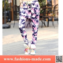 Hip Hop Woman Colorful Camouflage Crotch Pants