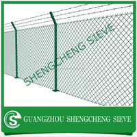 Cattle Fence With Bending Chain link fence panels Y post panels
