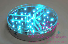 RGB LED Wedding decoration table centerpiece under vase base light / LED wedding decoration