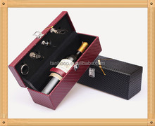 Flat Faux Leather Wine Carrier for Wine Packaging from china wine import