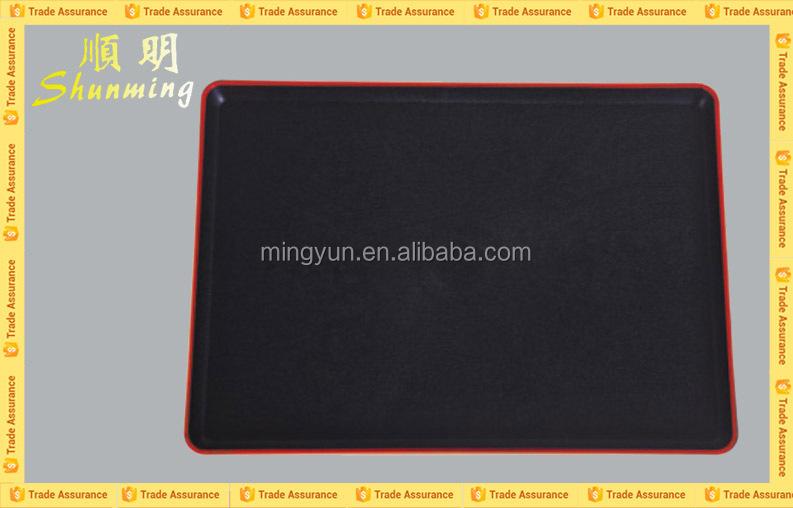 Serving plastic tray black
