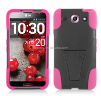 Hight Quality Products Black & Pink Hybrid Cover with Kickstand case for LG Optimus G Pro E980