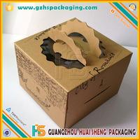 big factory wholesale custom design E- flute cardboard paper corrugated box for cake packaging