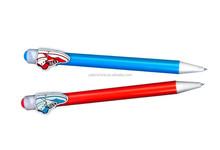 various clip plastic push action ball pen cute promotion pen/Personalized custom creative gift pen