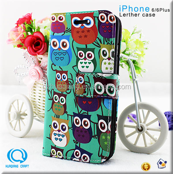 fancy wallet flip case TPU leather case for apple iPhone 6/6 Plus
